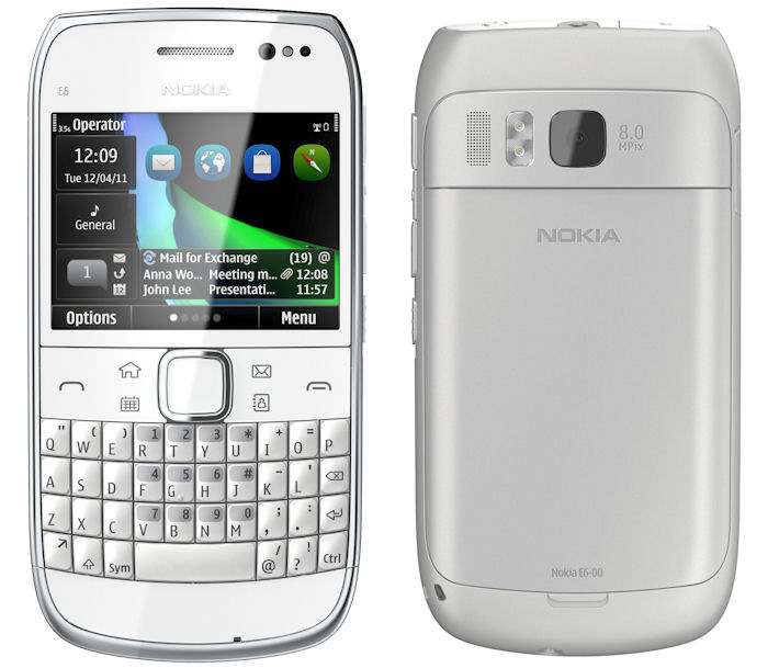 Nokia E6 - business smartphone with QWERTY and touch
