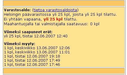 Verkkokauppa.com E90 page stock section
