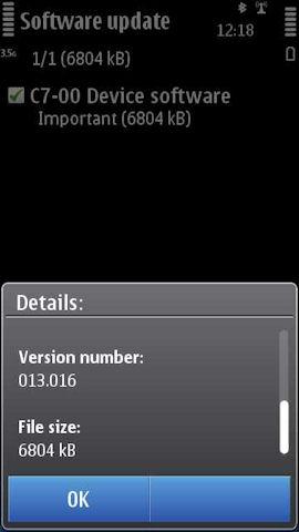 C7 firmware update