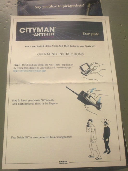 Cityman instructions