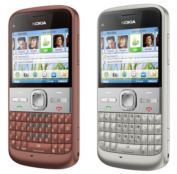 nokia e5 white. Nokia E5 - Silver and Copper
