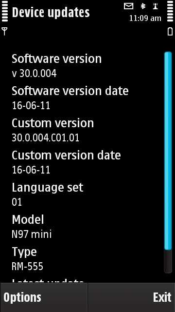 Nokia N97 mini update