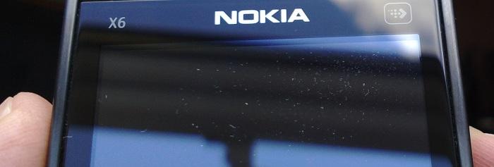 Dust under X6 screen
