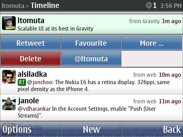 Jan Ole Suhr's Twitter client, Gravity