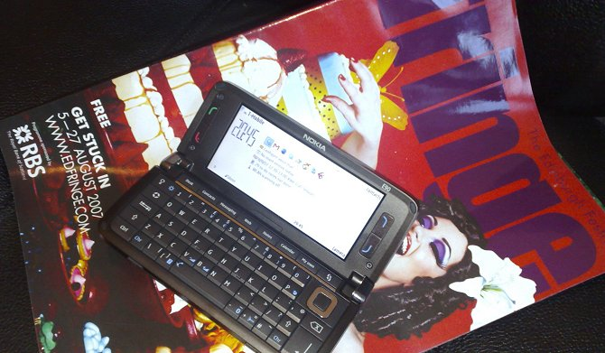 Nokia E90 at the Fringe