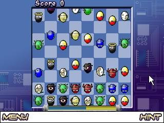 Eggstreme gameplay screen