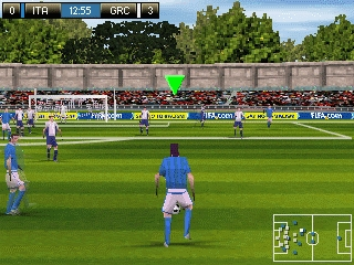 FIFA 08 on Ngage horizontal mode