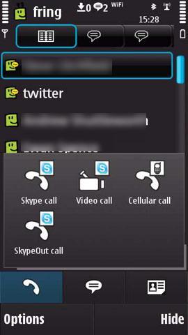 Fring Skype Video