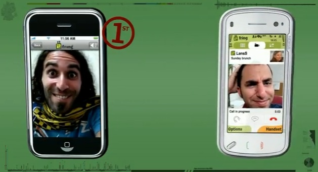 Fring video calls - here iPhone to Nokia N97