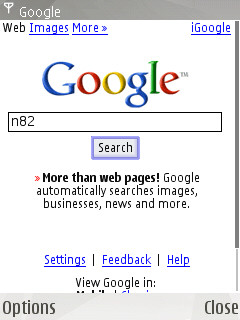 Google Search Screenshot