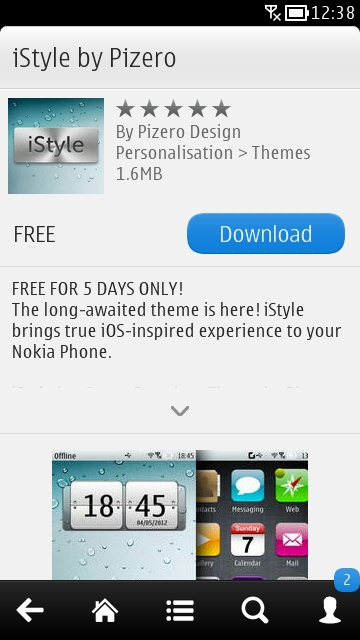Screenshot, iStyle