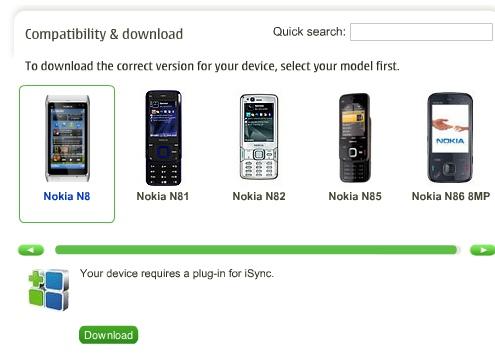 N8 in iSync