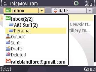 Mail on Ovi configured