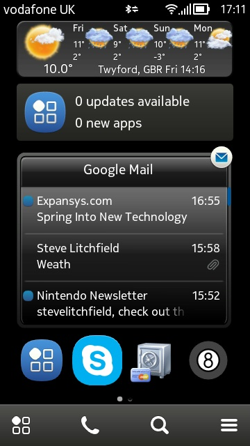 Screenshot, AppList widget