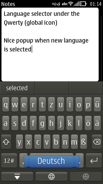 language chooser popup