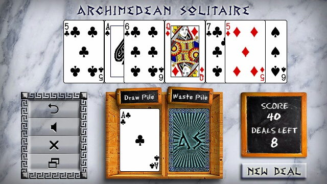 Screenshot, Archimedean Solitaire