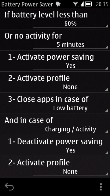 Screenshot, Battery Power Saver
