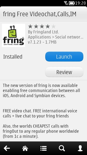 fring screen