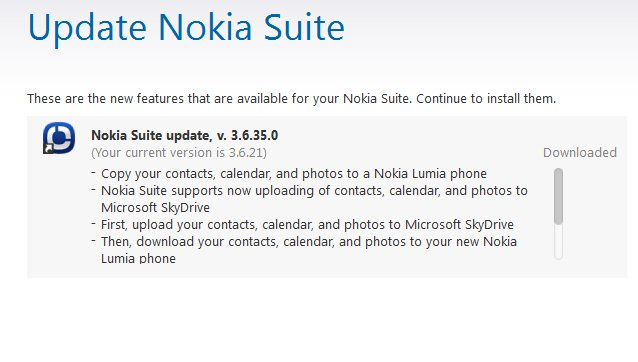 Nokia Suite update