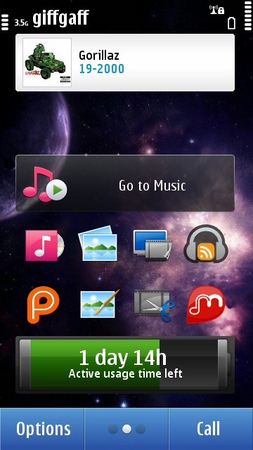 Music Explorer home screen widget