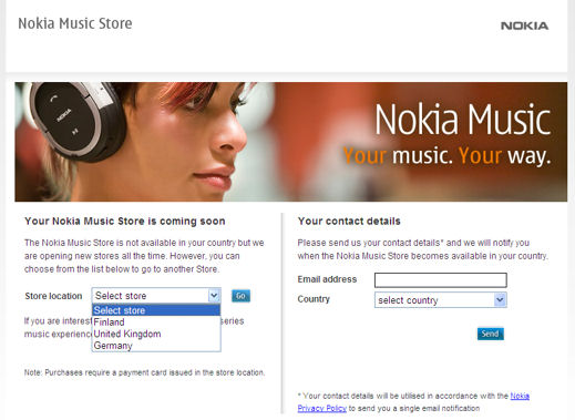 Nokia Music Store hits Germany and Finland