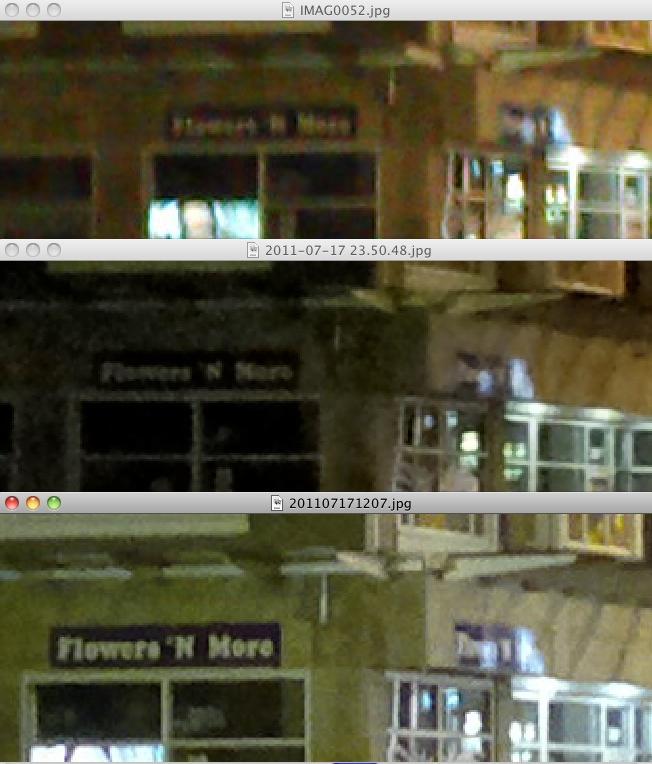 Street scene comparison