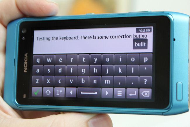 N8 keyboard