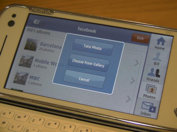 N97 Facebook Widget