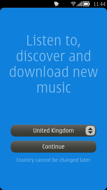 Screenshot, new Nokia Music