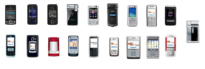 Nokia S60 3rd Edition smartphones with QVGA screens