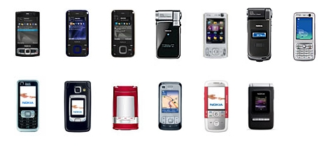 Nokia S60 3rd Editions without Eseries or TV phones