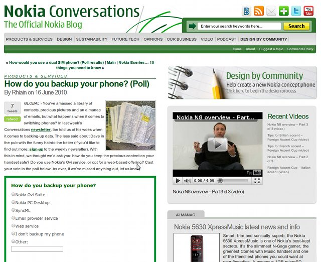 Nokia Conversations Poll - How do you backup your phone?