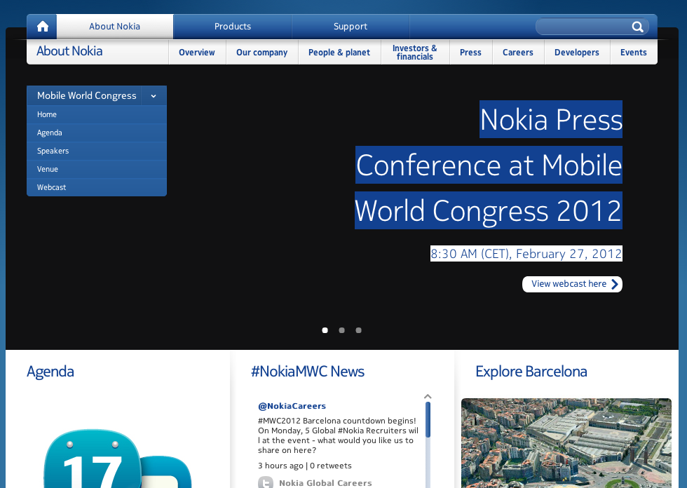 Nokia at MWC 2012