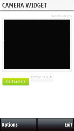 The new camera widget run on RDA
