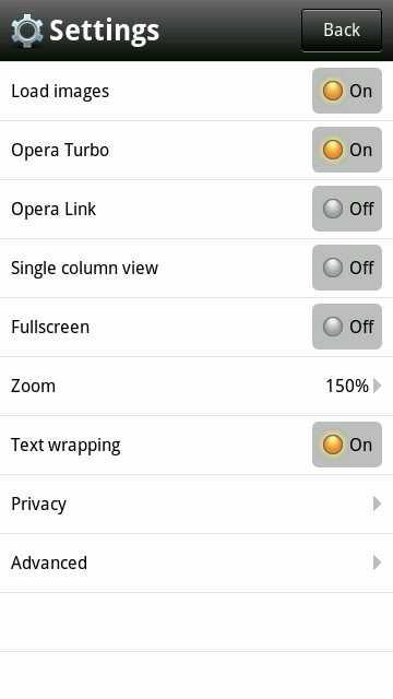 Opera Mobile 6.1