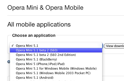 Opera Mini 5 1 for Symbian hits beta 2