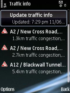Ovi Maps Traffic
