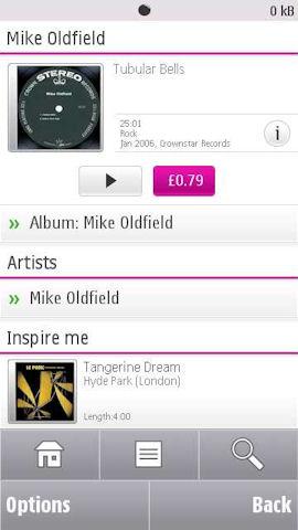 Ovi Music mobile