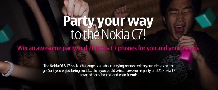 The Nokia C7 social contest