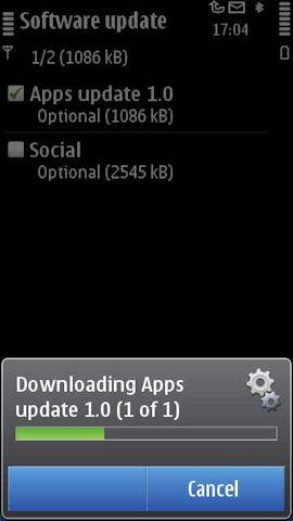 Phone app update