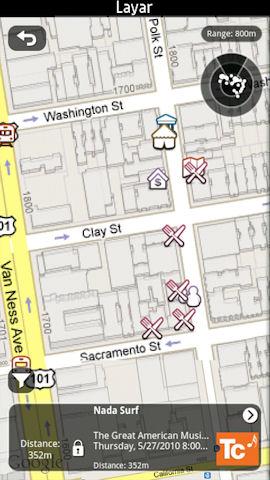 Layar map view