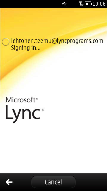 Lync on Symbian Belle