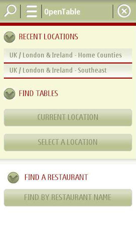 OpenTable For Nokia Book A Restaurant Table From Your Phone - Open table uk