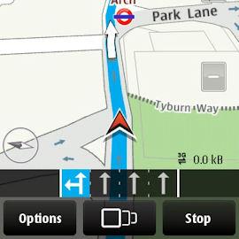 Ovi Maps drive mode