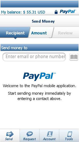 Pay Pal Mobile application