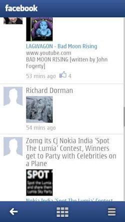 Nokia Social Screenshot