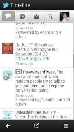 Nokia Social Screenshot
