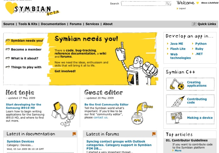 Symbian Foundation Developer site