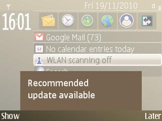 Nokia E72 update