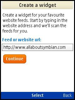 creating a widget